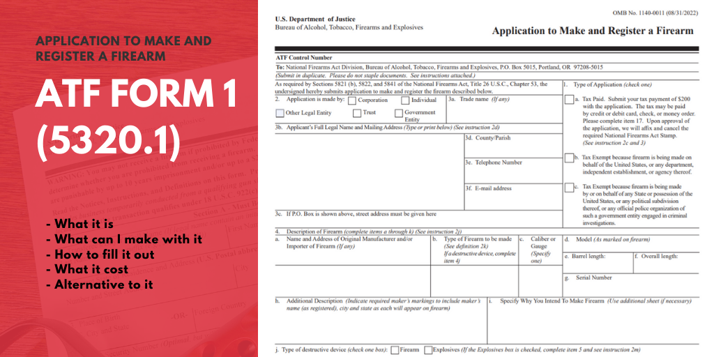 ATF form 1 Guide